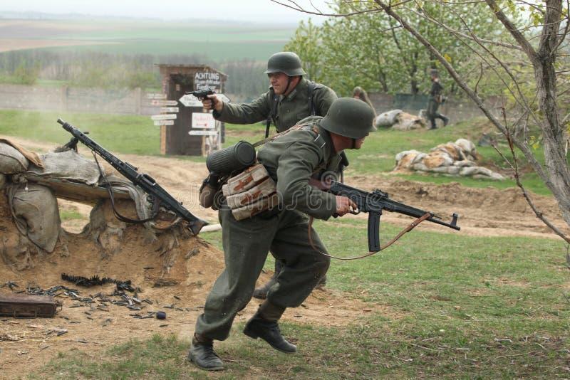 Rimessa in vigore della battaglia di WWII a Orechov fotografia stock libera da diritti