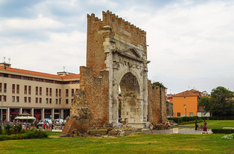 Rimini - Augustus Arch fotografia de stock royalty free