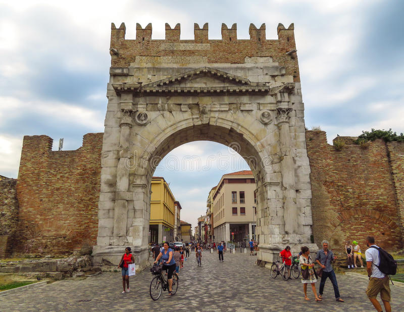 Rimini - Augustus Arch fotos de stock royalty free