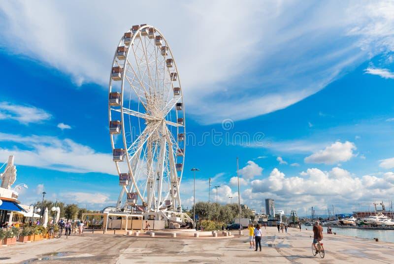 Rimini Ferris koło zdjęcia royalty free