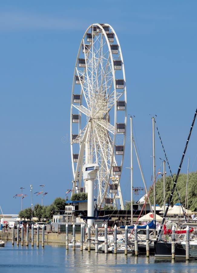 Rimini - grande roue photographie stock libre de droits