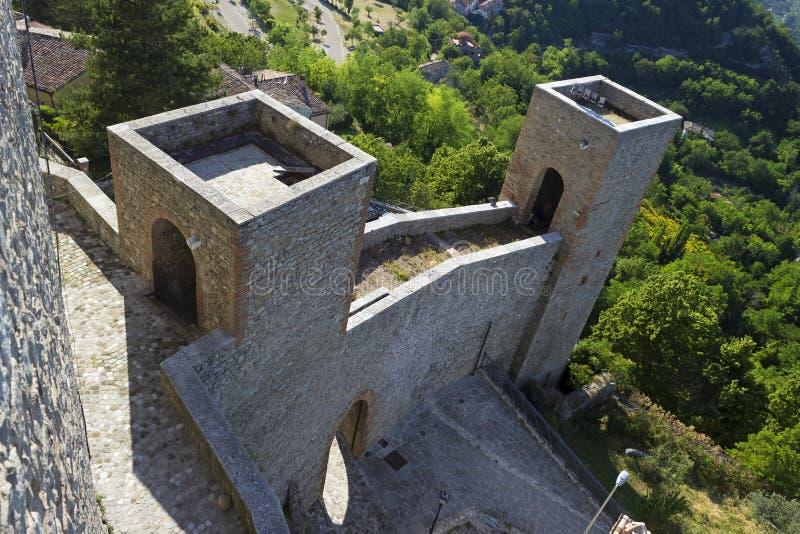 Castle. RIMINI, ITALY - JUNE 2012; Entrance of Montefiore Conca castle royalty free stock photos