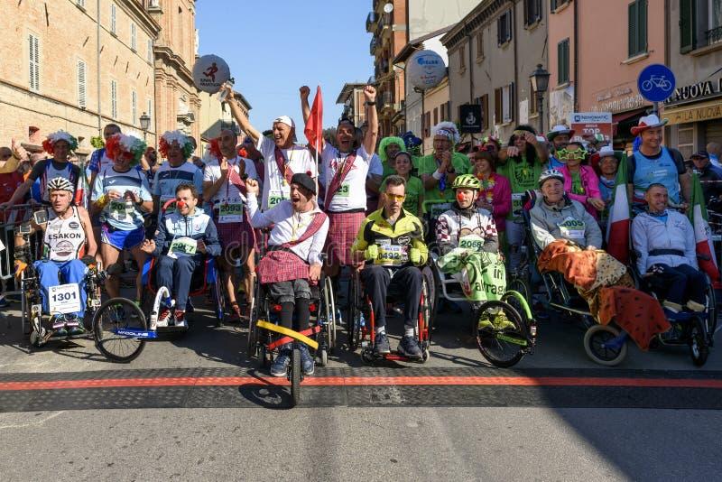 Rimini-Marathon 2017, Italien stockfoto