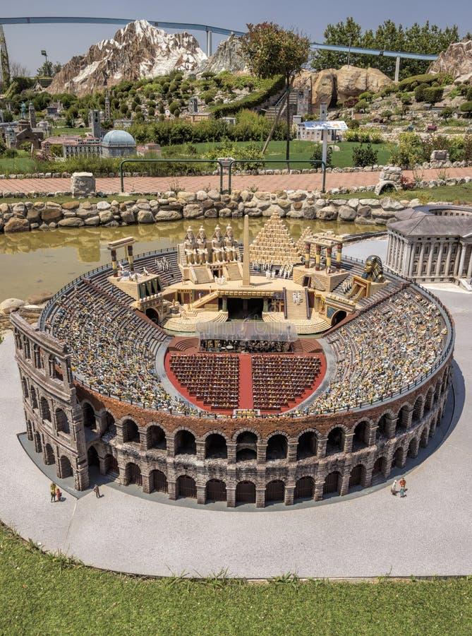 Rimini - Miniatur der Arena stockbild