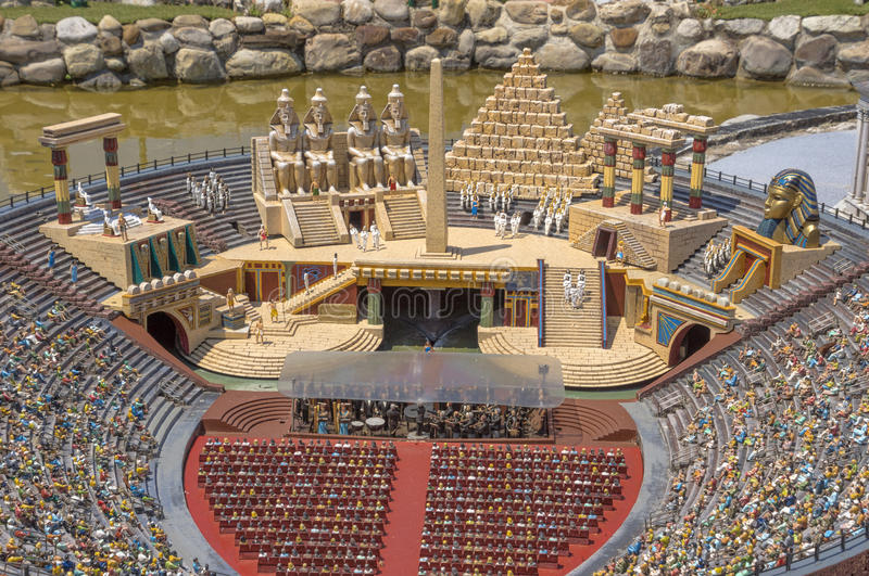 Rimini - Miniature of arena. Rimini, Italy - June 13, 2017: Miniature of arena in Verona in the theme park `Italy in miniature` Italia in miniature stock image