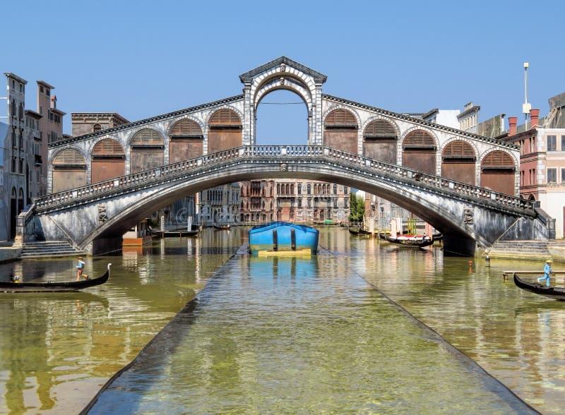 Rimini - Miniature of Rialto bridge. Miniature of Rialto bridge in Venice in the theme park & x22;Italy in miniature& x22; & x28;Italia in miniature& x29 royalty free stock images