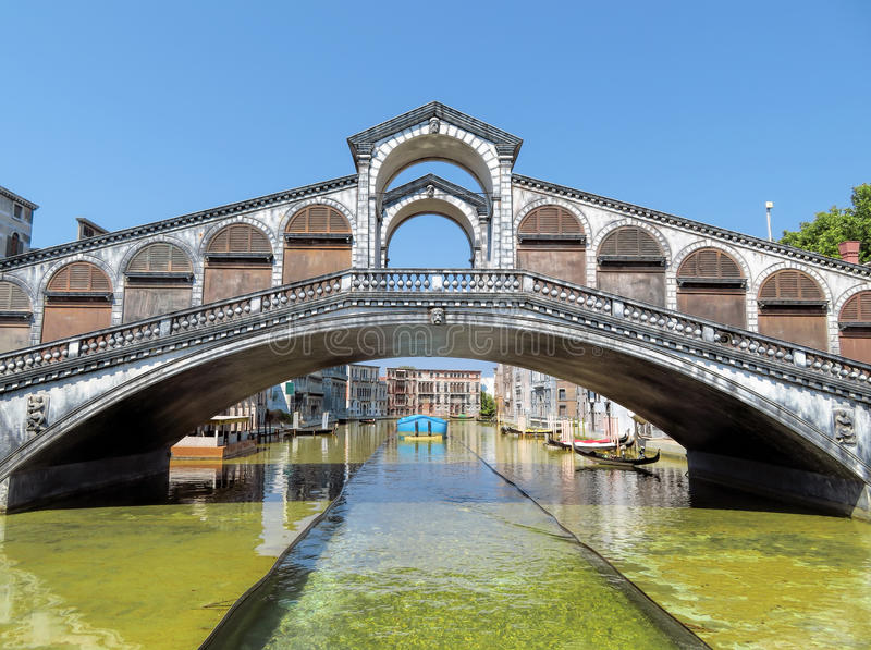 Rimini - Miniature of Rialto bridge. Miniature of Rialto bridge in Venice in the theme park & x22;Italy in miniature& x22; & x28;Italia in miniature& x29 royalty free stock photo