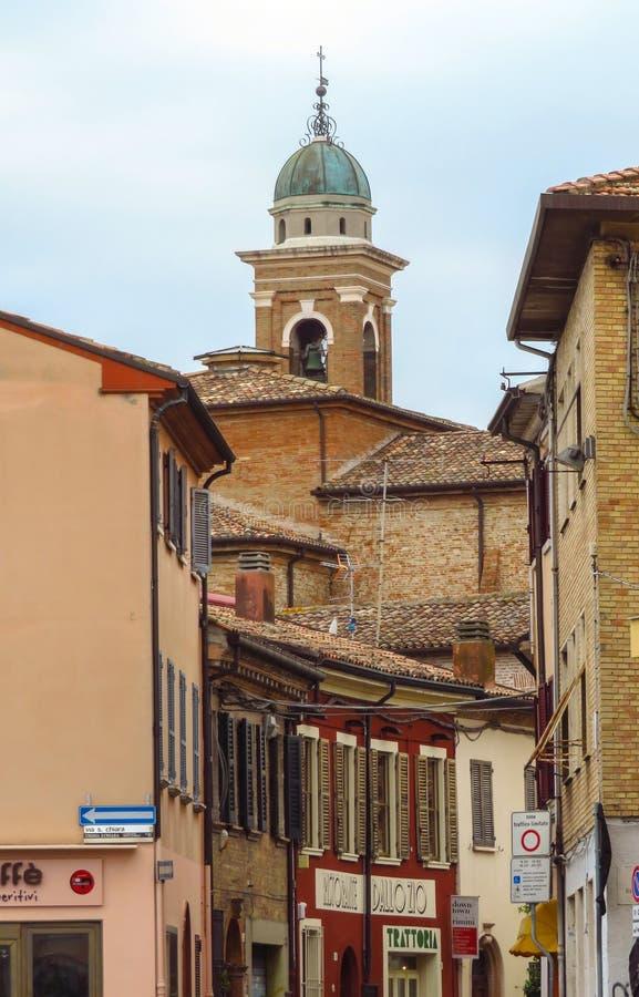 Rimini - vista à cidade velha fotos de stock royalty free
