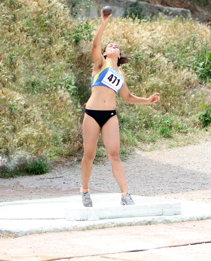 Download Rimma Gordienko Competes In Shot Put Competition Editorial Stock Photo - Image: 25209943