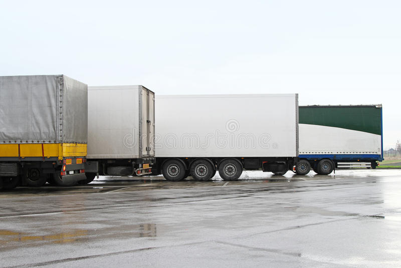 Rimorchi del camion fotografia stock libera da diritti
