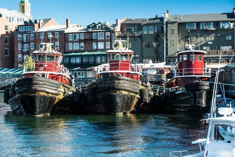 Rimorchiatori del porto di Portsmouth fotografia stock