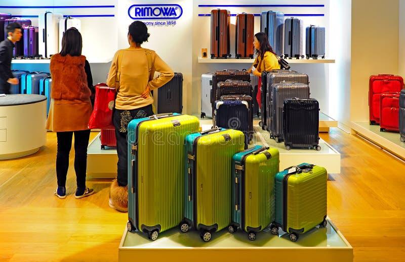 Rimowa luggage store royalty free stock photo