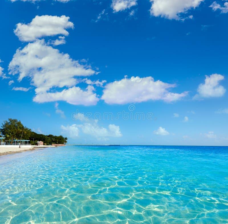 Rimozione S Higgs della spiaggia di Key West Florida fotografia stock