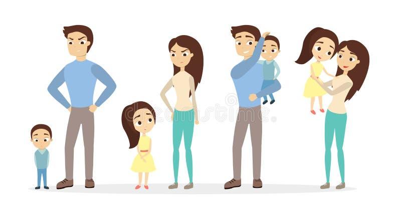 Rimproveri ed elogi i genitori illustrazione vettoriale