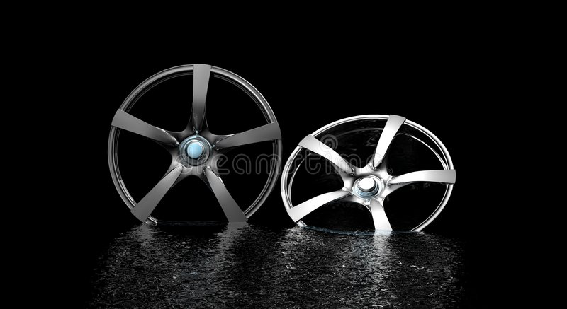 Rims. Custom rims from sports car royalty free illustration