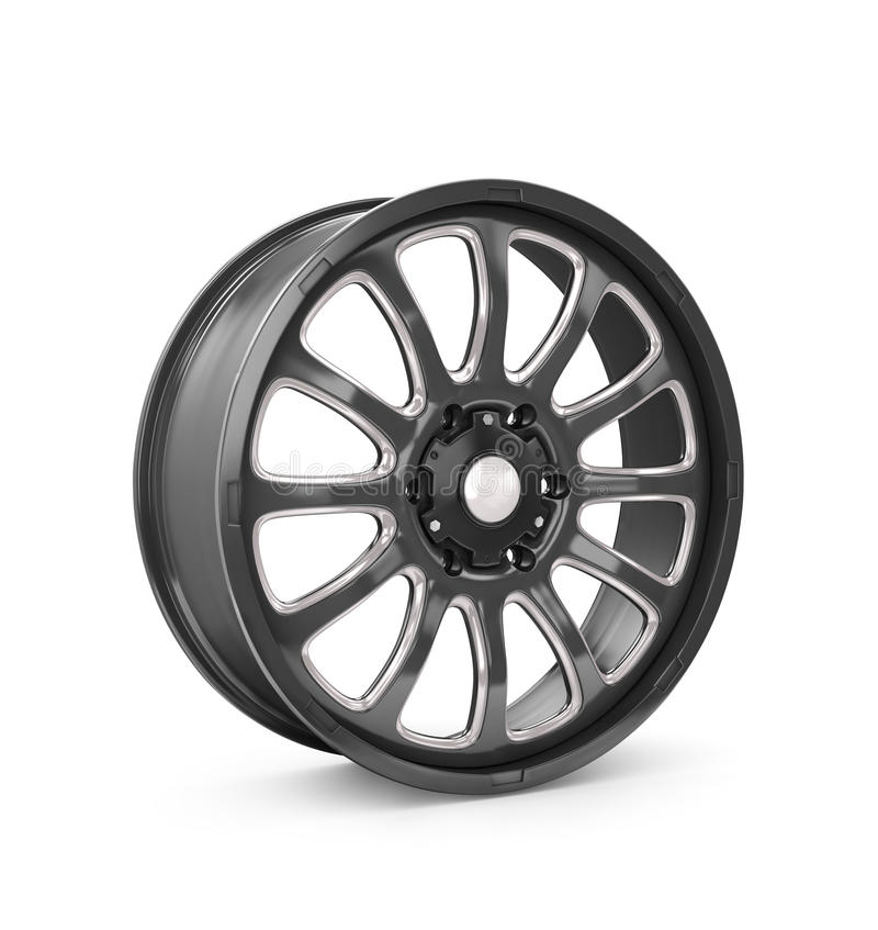 Rims car. Isolated on a white background royalty free illustration