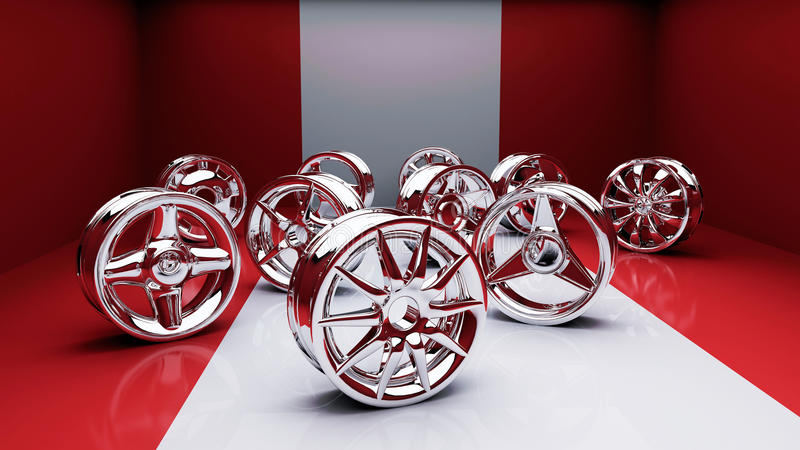 Rims red studio royalty free stock photo