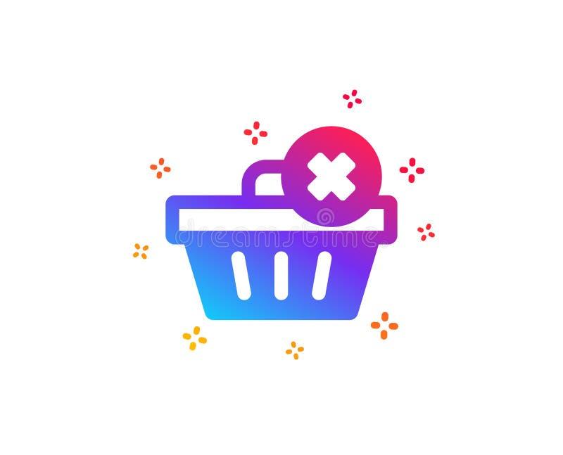 Rimuova l'icona del carrello Acquisto online Vettore illustrazione di stock