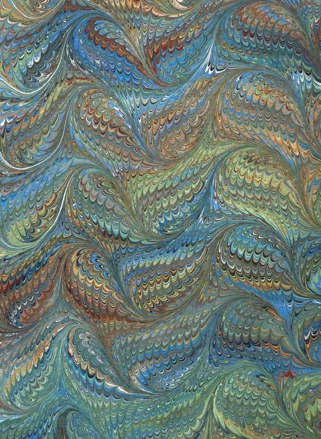 Rinascita/documento marmorizzato 2 del Victorian immagine stock