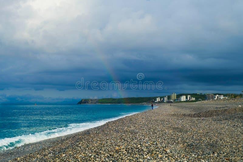 Rinbow από την παραλία στοκ εικόνες