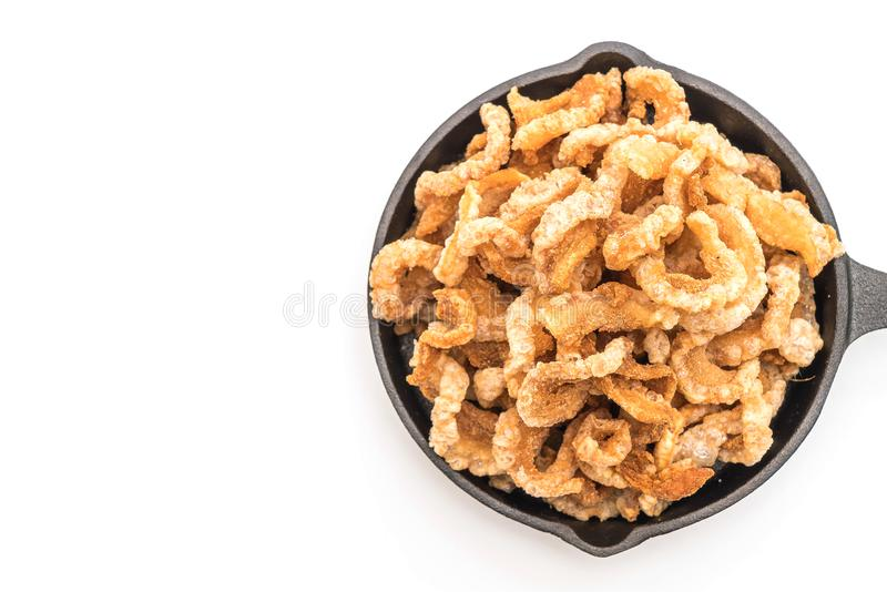 Rince de porc ou casse-croûte frit de porc avec les piments verts thaïlandais du nord D images stock