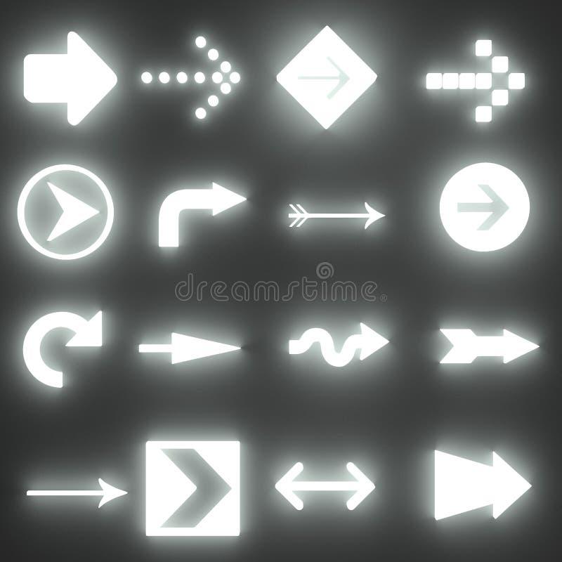 Rinda de flechas ilustración del vector