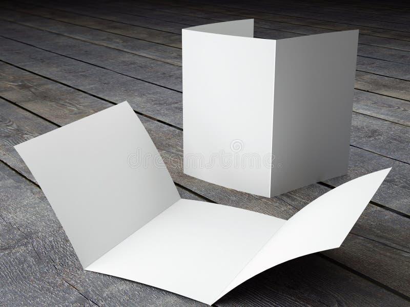 Rinda de plantilla en blanco del tamaño triple del folleto A4 stock de ilustración