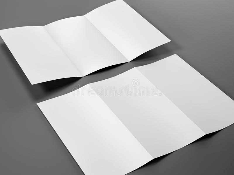 Rinda de plantilla en blanco del tamaño triple del prospecto A4 libre illustration