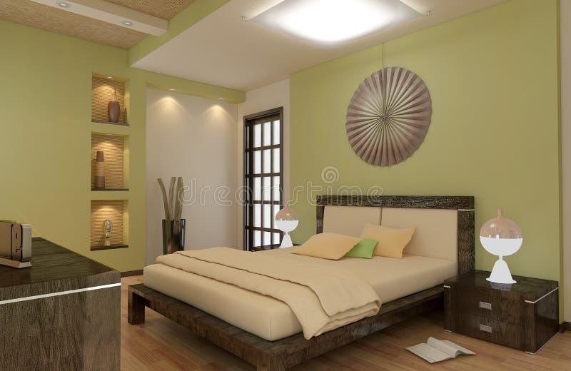Rinda de sitio del dormitorio del apartamento ilustración del vector