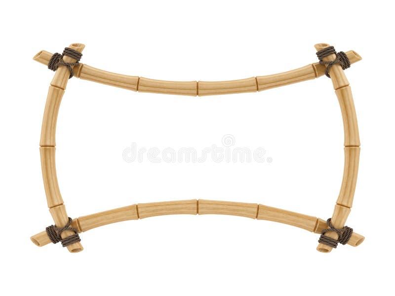 Rinda de un bastidor de bambú stock de ilustración