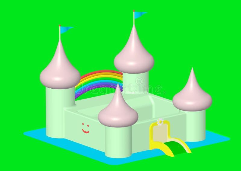 Castillo amistoso stock de ilustración