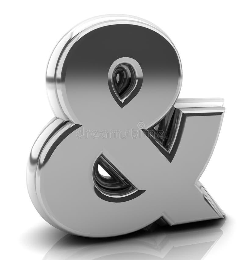 Rinda el signo '&' de plata stock de ilustración