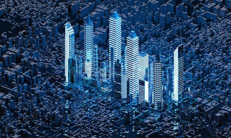 Rinda la ciudad abstracta ilustración del vector