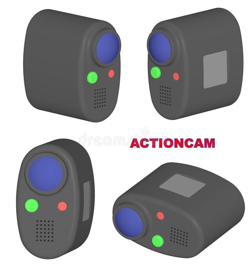 Actioncam stock de ilustración