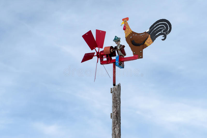 RINDERPLATZ, SOUTH TYROL/ITALY - MARCH 27 : Weathervane at the R royalty free stock photography