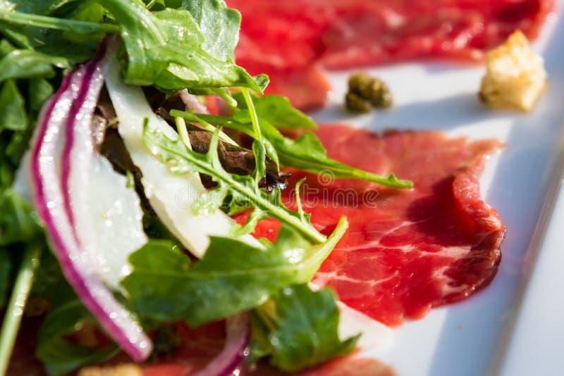 Rindfleisch Carpaccio lizenzfreie stockfotografie
