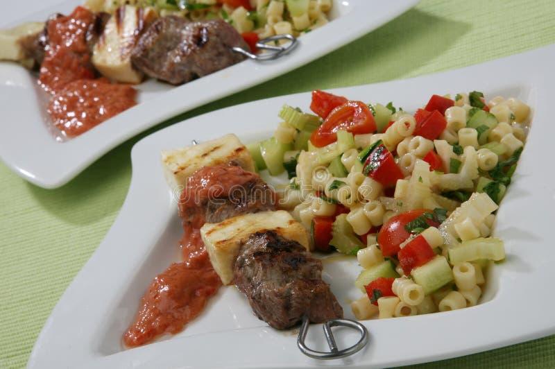 Rindfleisch gegrillt und Käse lizenzfreie stockfotos