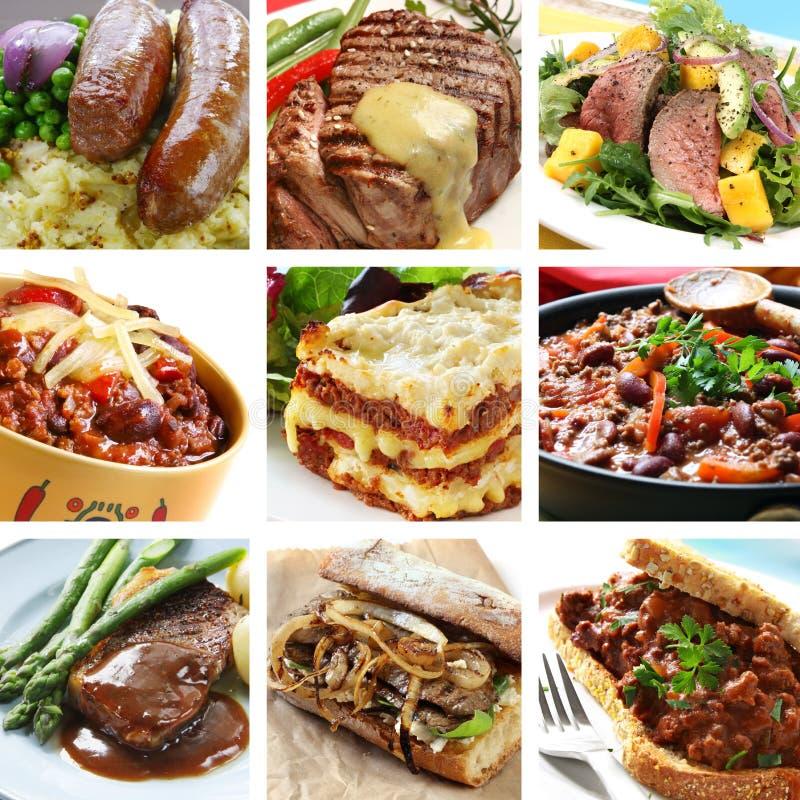 Rindfleisch-Mahlzeit-Collage lizenzfreies stockbild