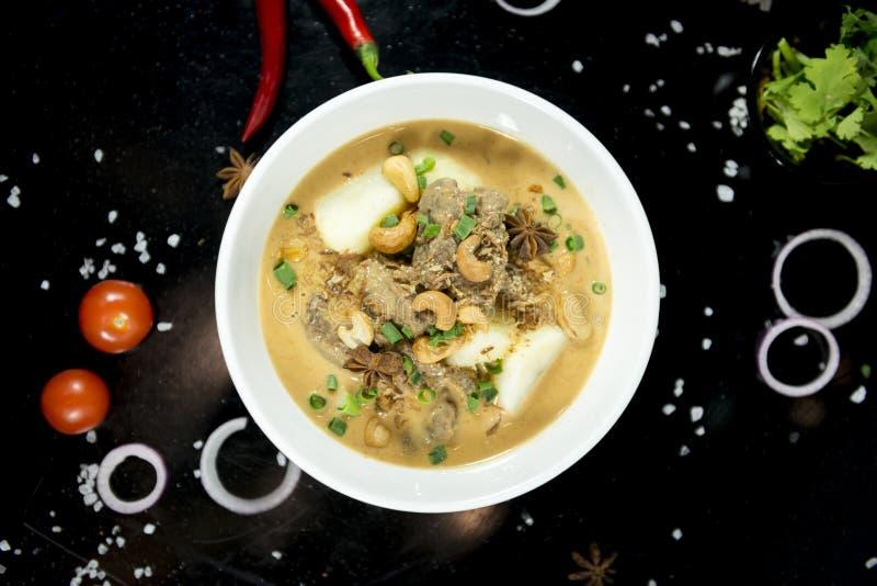 Rindfleisch massaman Curry, thailändische Küche lizenzfreie stockfotos