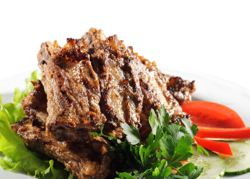 Rindfleisch (oder Schweinefleisch) gegrillt