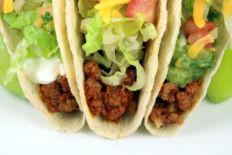 Rindfleisch Tacos lizenzfreie stockfotos