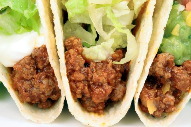 Rindfleisch Tacos lizenzfreies stockfoto