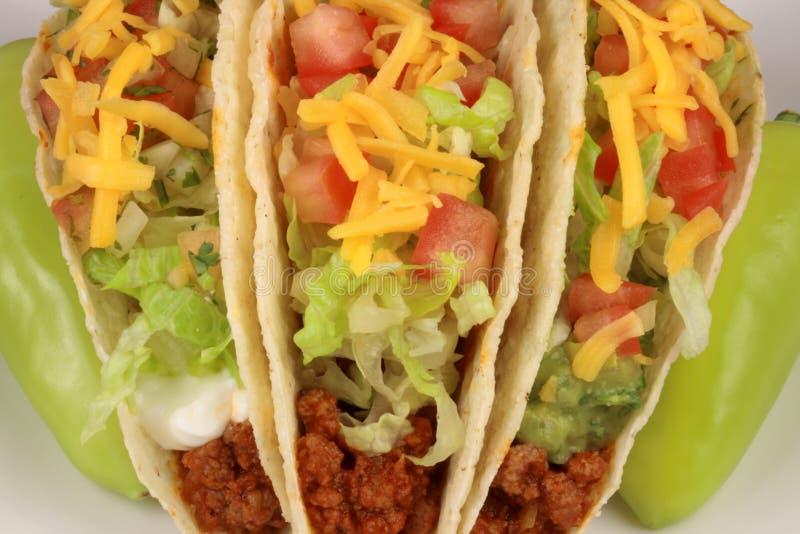 Rindfleisch Tacos lizenzfreie stockbilder
