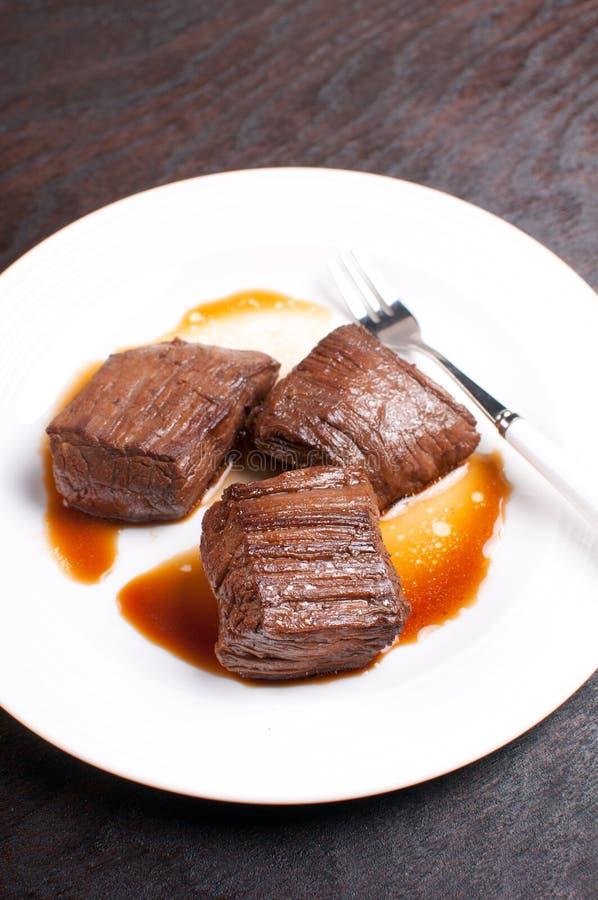 Rindfleischbauchlappen bessert mariniert und gekocht aus stockfoto