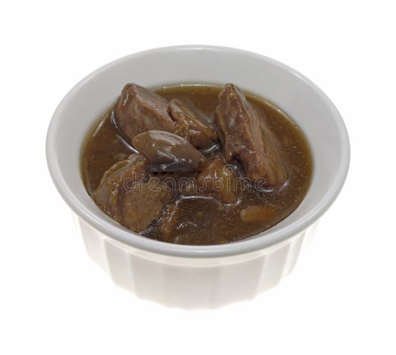 Rindfleischspitzen in einem kleinen Teller stockfotos