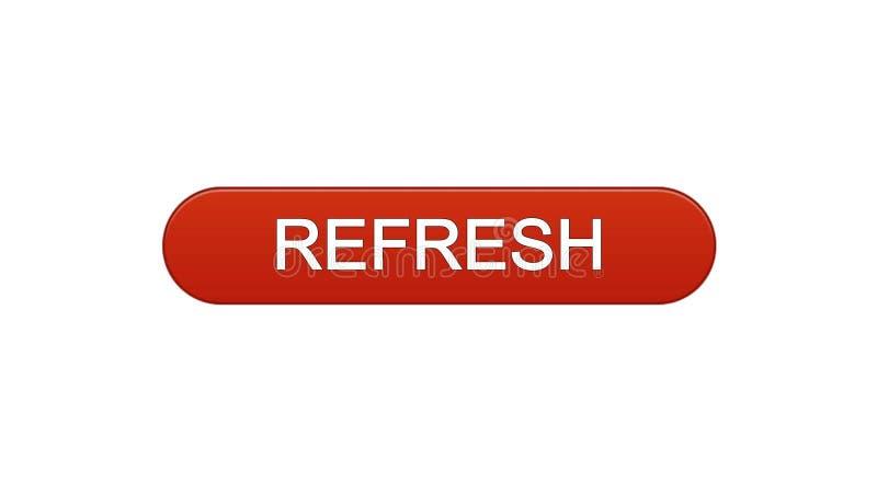 Rinfreschi il rosso di vino del bottone dell'interfaccia di web, la progettazione del sito internet, idea dell'innovazione royalty illustrazione gratis