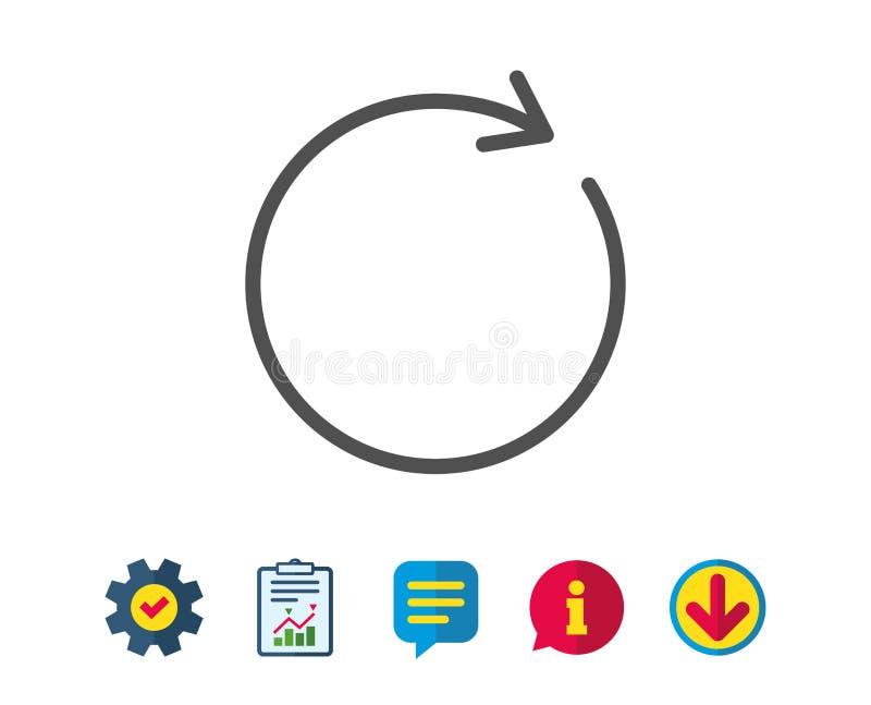 Rinfreschi la linea icona Segno della freccia di rotazione illustrazione vettoriale