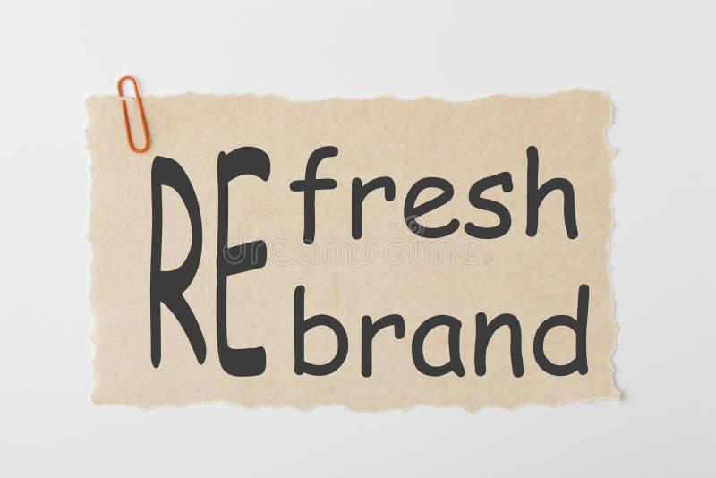 Rinfreschi o concetto di Rebrand fotografia stock