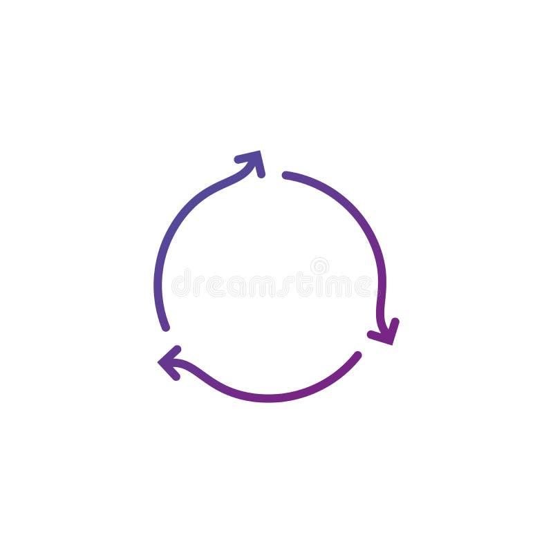 Rinfreschi o icona di sincronizzazione Segno della ricarica Disfaccia l'icona di vettore Rifaccia il simbolo Icona dell'aggiornam illustrazione vettoriale