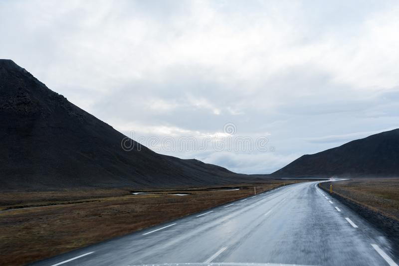 Ring around the Iceland. As far as I remember, we are heading North, to the colder parts of the island royalty free stock photo